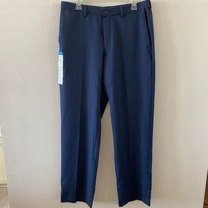 NWT Haggar Classic Fit Navy Blue Trousers Pants